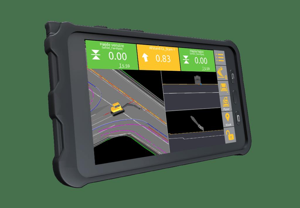 Unicontrol3D-tablet-interface-højde-kloak-afstand