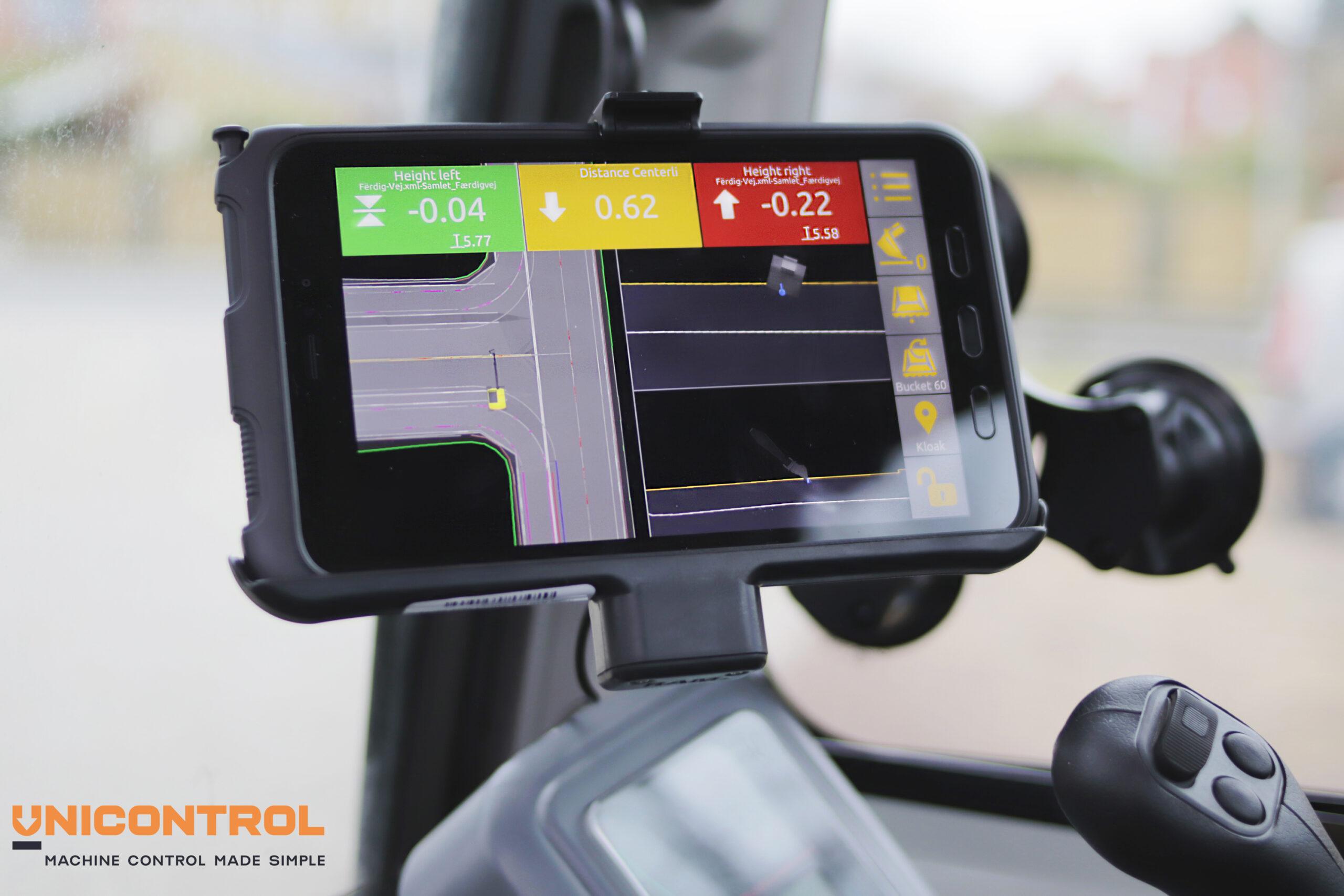 Unicontrol 3D machine control system tablet